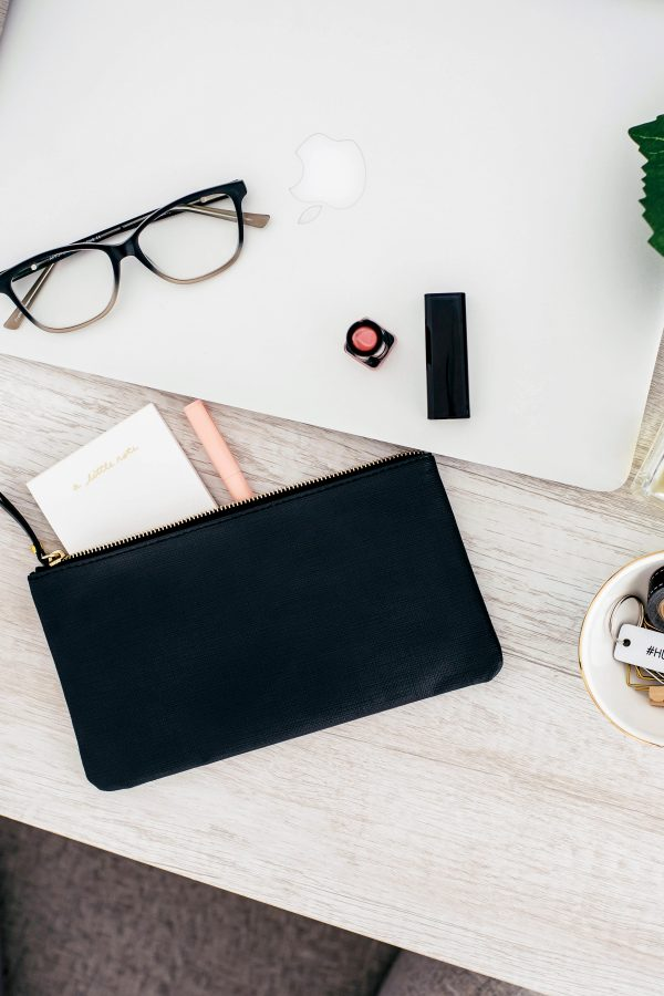 flatlay of desk at home